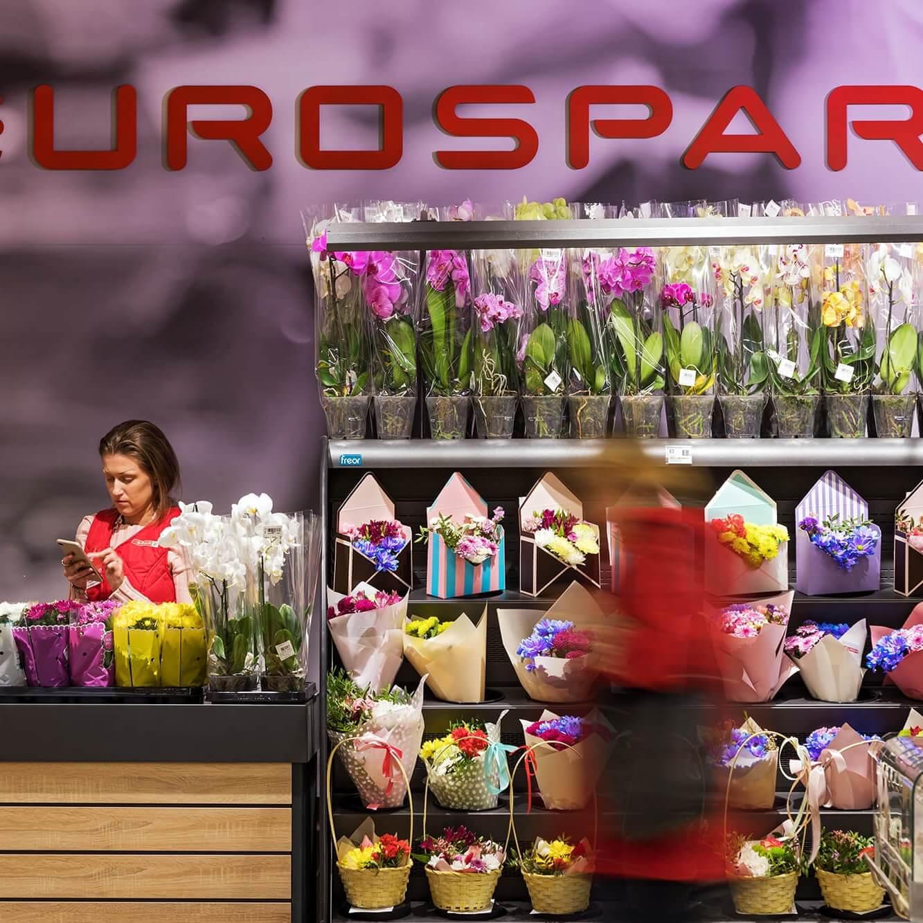 Интерьер торгового зала EUROSPAR в Бобруйске (Карусель)
