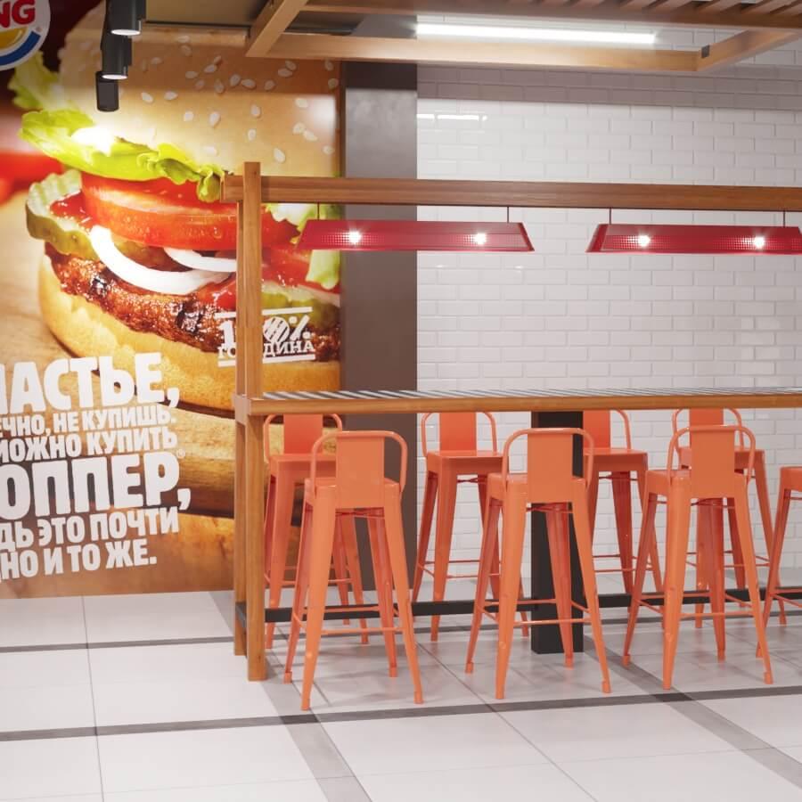 Интерьер ресторана BURGER KING в Могилеве