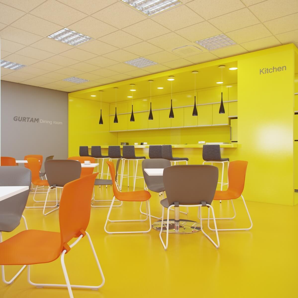 Офисы компании. Помещения приема пищи, отдыха, обучения.