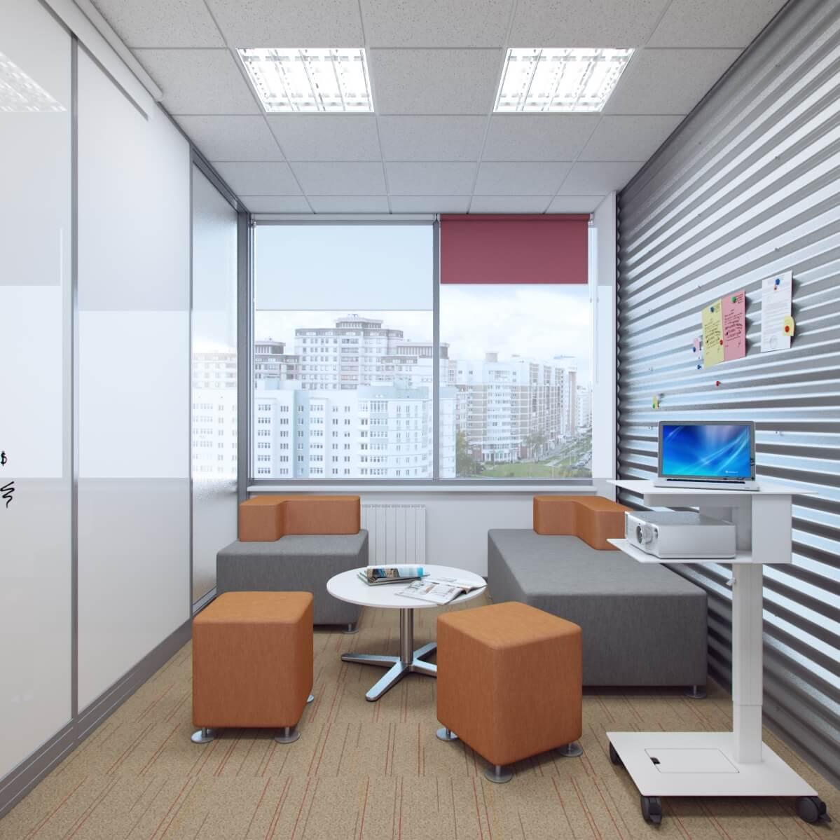 Рабочие зоны компании. Офисы, холлы.