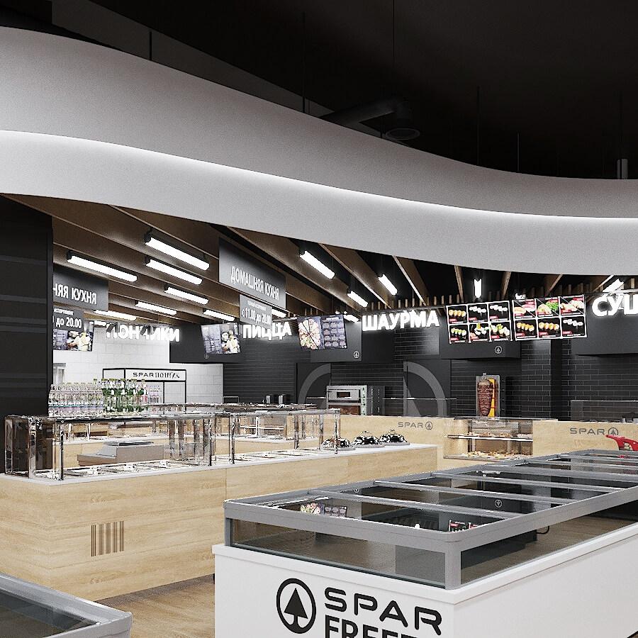Интерьер торгового зала SPAR. Брест (ул. Гоголя)