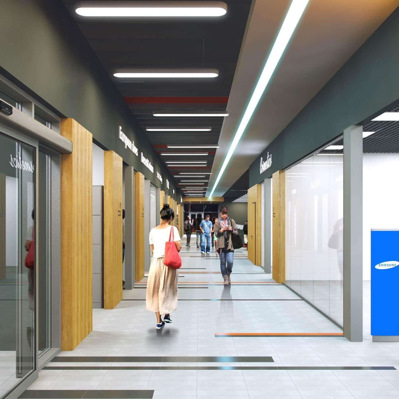 Интерьер торгового центра в Слуцке