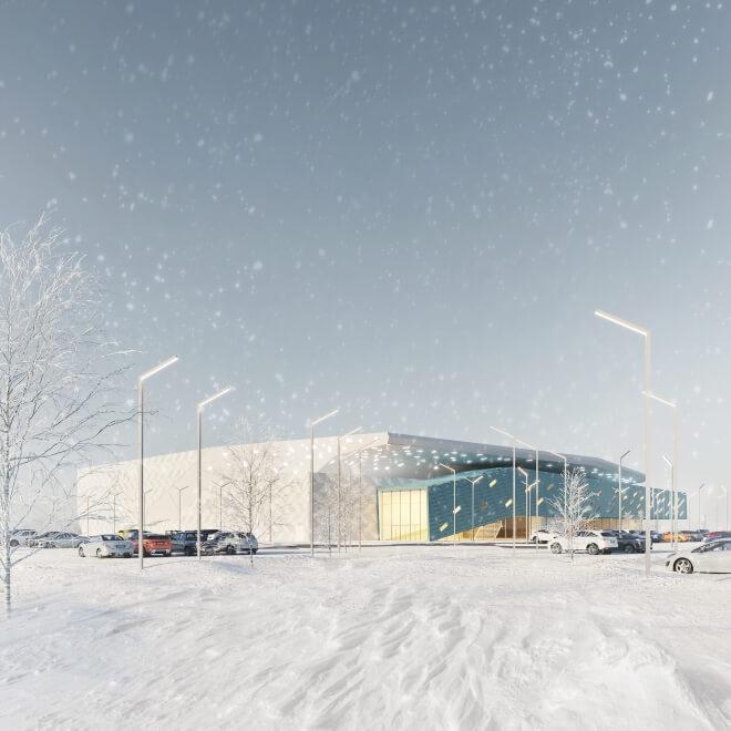 Тренировочная ледовая арена в Борисове