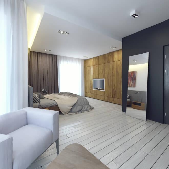 Интерьер спальной комнаты 41