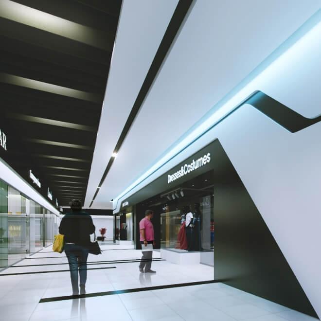 Интерьер торгового центра в Минске